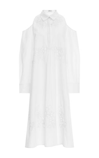 Medium suno white cutout shirt dress
