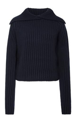 Medium carven navy folded turtleneck sweater