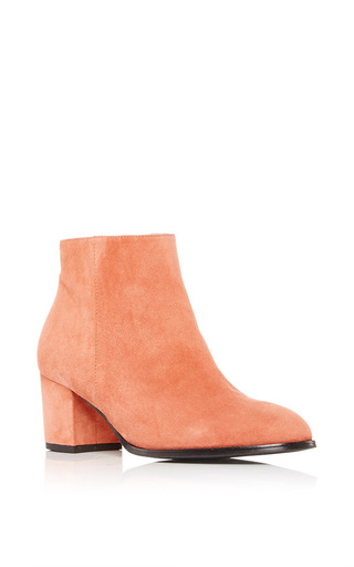 Medium carmelinas brown ana bootie in terracotta suede