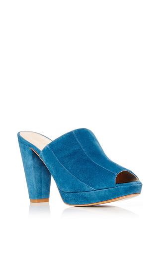 Medium carmelinas blue obelix mule in blue suede