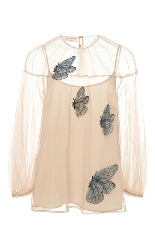 Medium anna sammarone nude nude butterfly silk tulle blouse