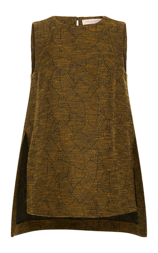 Medium anna sammarone gold brocade asymmetrical top