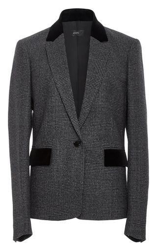 Medium joseph plaid prisca contrast blazer