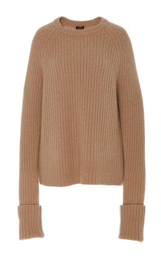 Medium joseph tan pearl ribbed sweater