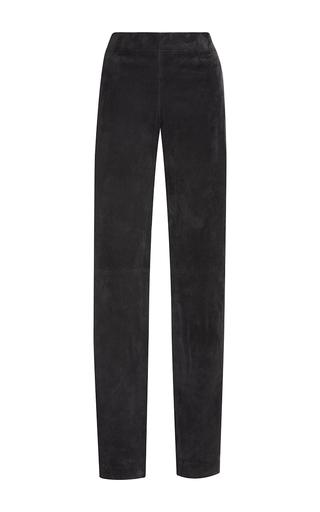 Medium joseph black suede slim fit pants