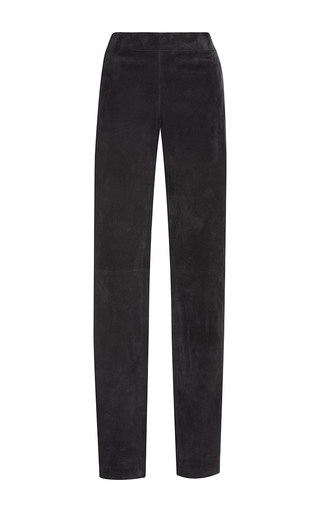 Medium joseph black suede slim fit pants