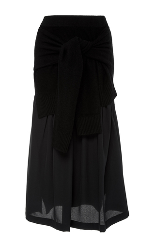 Medium joseph black long sleeve midi skirt