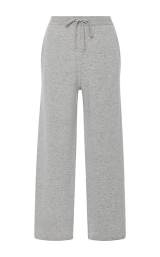 Medium joseph light grey drawstring wool cropped pants
