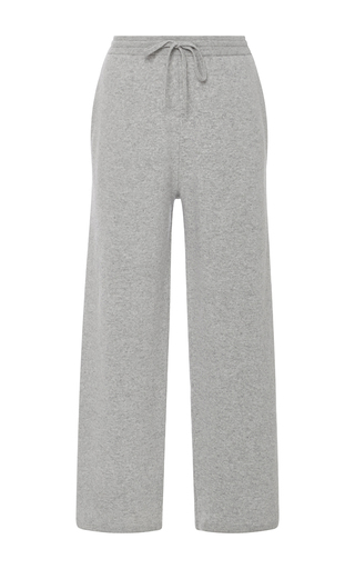 Medium joseph light grey drawstring wool cropped pants