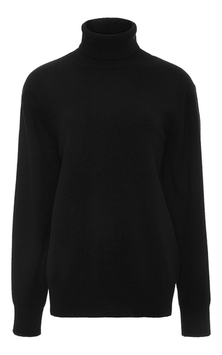 Medium joseph black roll neck cashmere sweater