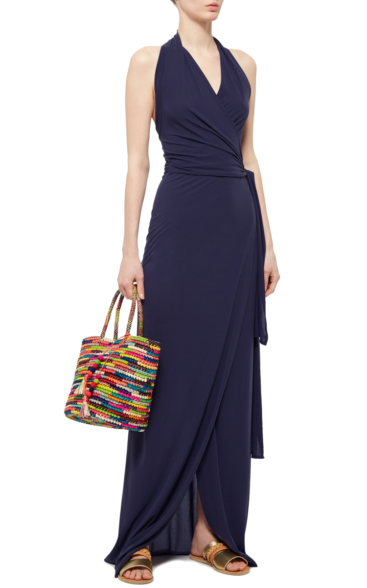 Halter Wrap Maxi Dress By Norma Kamali Moda Operandi
