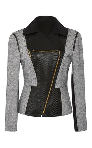 Medium roland mouret dark grey yelverton checked wool jacket