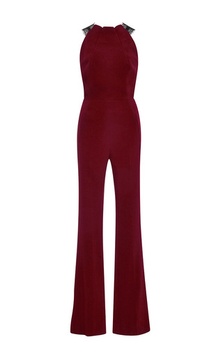 Cross Layered Lace Jumpsuit by ROLAND MOURET Now Available on Moda Operandi