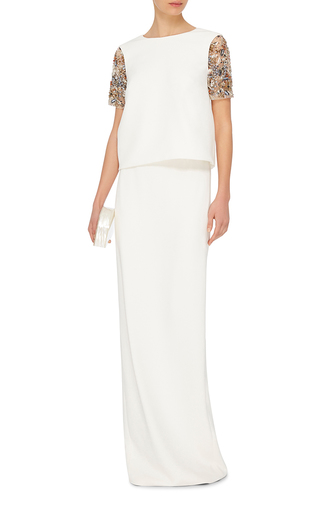 Column Maxi Skirt by MONIQUE LHUILLIER Now Available on Moda Operandi