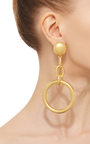 Circular Chain Drop Earrings by MARNI Now Available on Moda Operandi