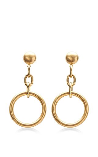 Medium marni gold circular chain drop earrings