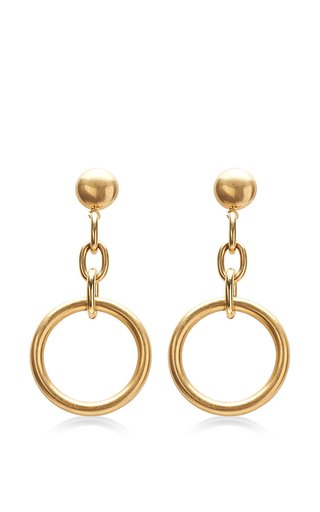 Medium marni gold circular chain drop earrings