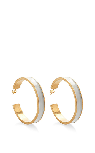 Lily White Hoops by MARNI Now Available on Moda Operandi