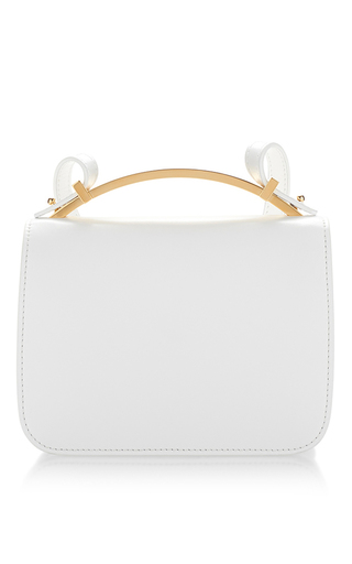 Medium marni white white vitello leather shoulder bag