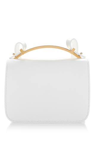 Medium marni white white vitello leather shoulder bag