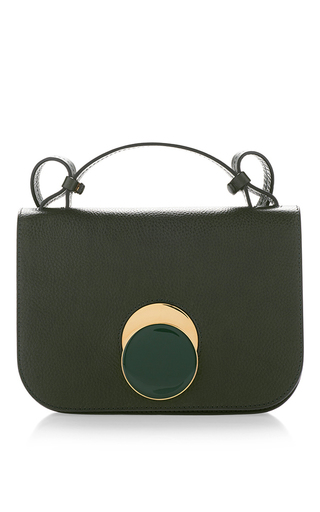 Medium marni green tea green vitello leather shoulder bag