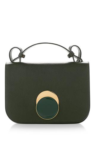 Medium marni green tea green vitello leather shoulder bag