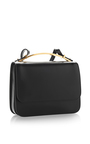 Black Vitello Leather Shoulder Bag by MARNI Now Available on Moda Operandi