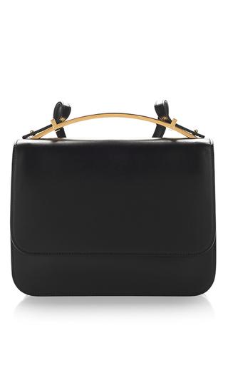 Medium marni black black vitello leather shoulder bag  2