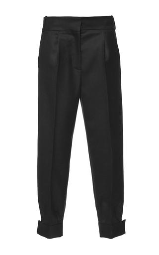 Medium marni black black twisted flannel trouser