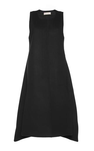 Medium marni black heavy felt waistcoat