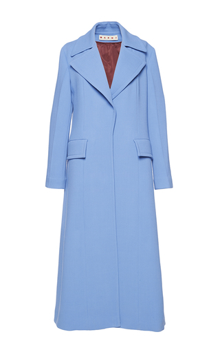 Medium marni blue double face wool coat