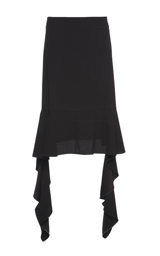 Medium marni black satin back crepe ruffle skirt