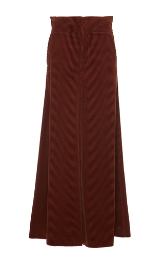 Medium marni burgundy brick wide leg corduroy trouser