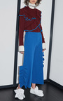 Blue Ruffled Crepe Pants by MSGM Now Available on Moda Operandi