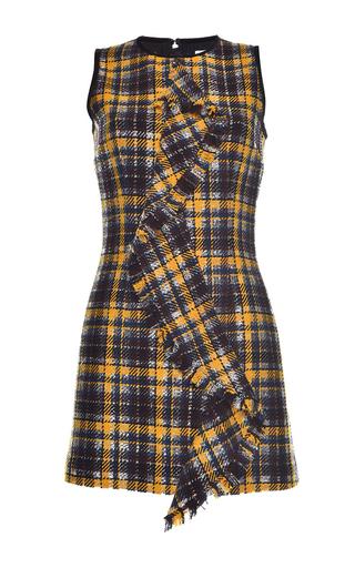 Medium msgm plaid metallic check sleeveless dress