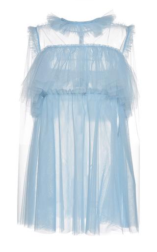 Medium msgm light blue light tulle babydoll dress