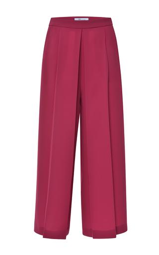 Medium blumarine red red pleated wide leg pant