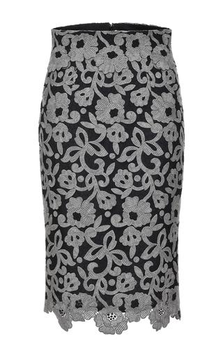 Medium blumarine dark grey lace embroidered pencil skirt