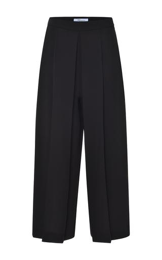 Medium blumarine red black pleated wide leg pant