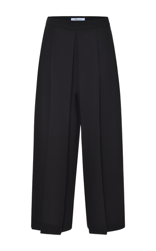 Medium blumarine red black pleated wide leg pant