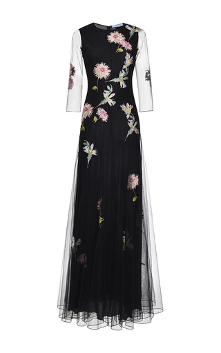 Medium blumarine black embroidered tulle gown