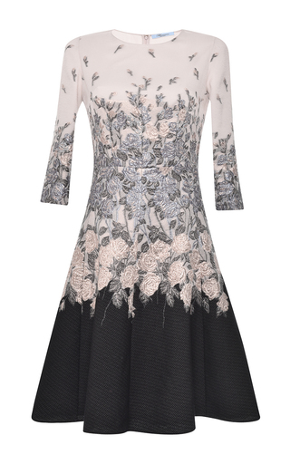 Medium blumarine multi silk cotton embroidered a line dress