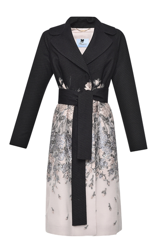 Medium blumarine multi silk cotton fil coupe trench coat
