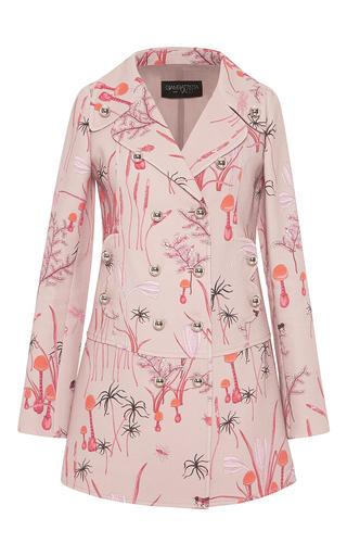 Medium giambattista valli pink double breasted magic mushroom coat