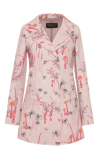 Medium giambattista valli pink double breasted magic mushroom coat