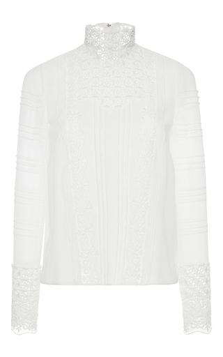 Medium giambattista valli white silk lace magic mushroom blouse