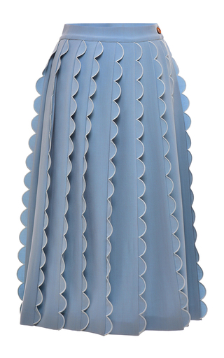 Medium vivetta light blue dust melissa midi skirt