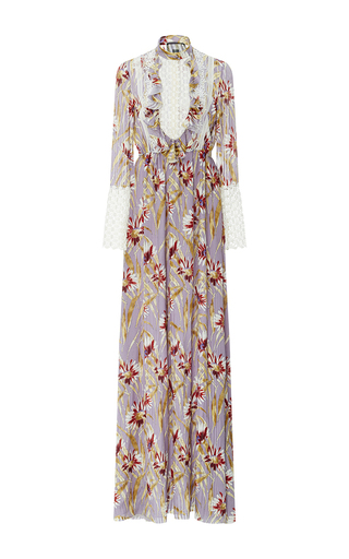 Medium giambattista valli floral silk chiffon dress