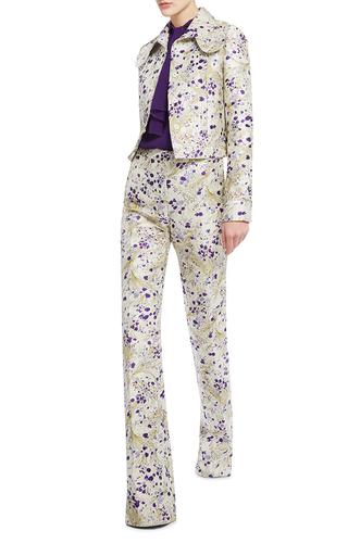 Whimsical Metallic Cropped Jacket by GIAMBATTISTA VALLI Now Available on Moda Operandi
