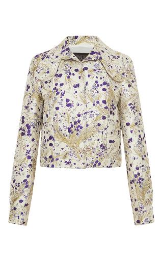 Medium giambattista valli metallic whimsical metallic cropped jacket